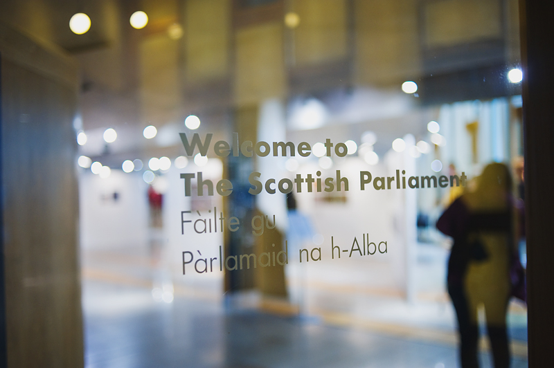 exhibition at scottish Parliament
