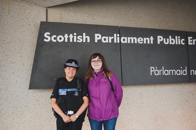 outside Scottish Parliament